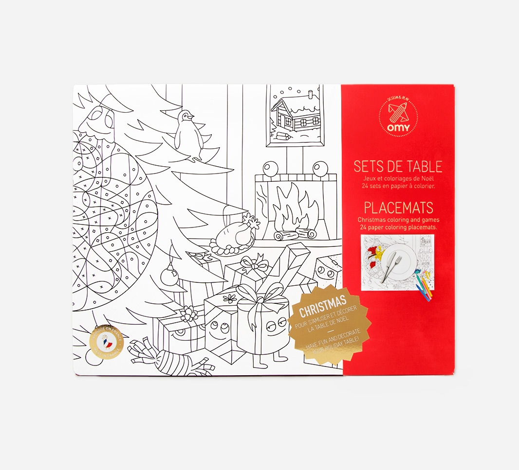 Kleurplaten Kerst Placemat.Inkleurbare Placemats Kerstmis Omy Small Paper Things