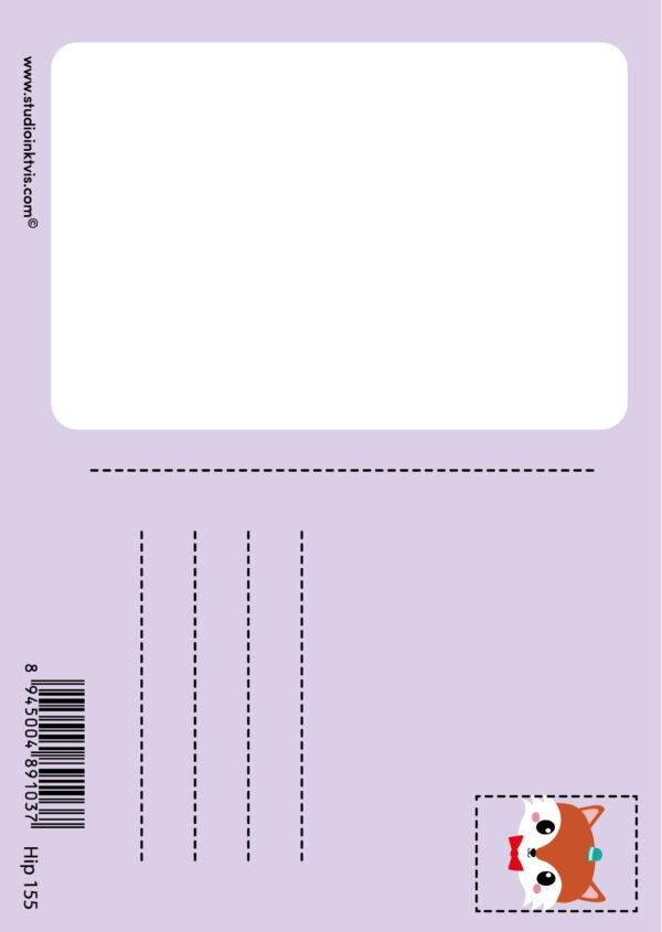 Postkaart-vos-studio-inktvis