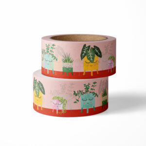 Washi tape planten