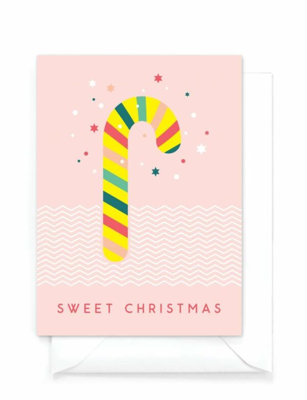 yellow-sky-grappige-kerstkaart-candy-cane-sweet-christmas