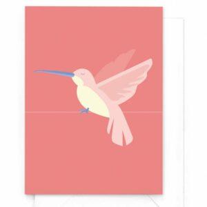yellow-sky-wenskaart-tropical-birds-kolibrie